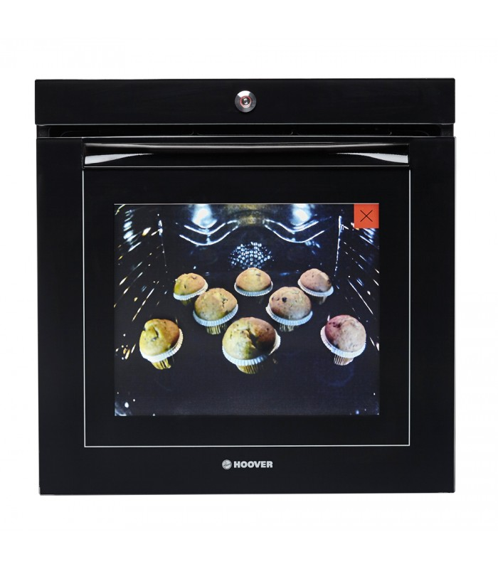 Hoover H-OVEN 700 EXTRA VISION Wifi Connected Built In Electric Single Oven - Black Glass - A Rated - 1